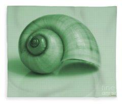 Shell. Light Green Fleece Blanket