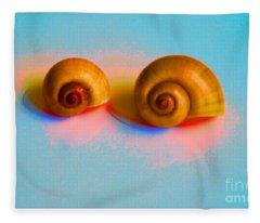 Shells In Colors Fleece Blanket