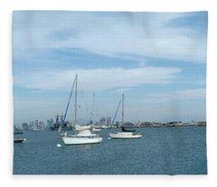 Shelter Island Panorama Fleece Blanket