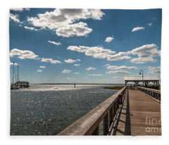 Shem Creek Pavilion  Fleece Blanket