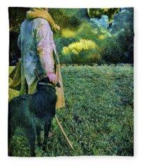 Shepherd And Moon Fleece Blanket