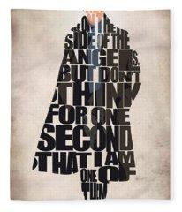 Sherlock - Benedict Cumberbatch Fleece Blanket
