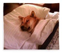 Shiba Inu Kobi-1 Fleece Blanket