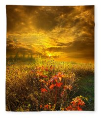 Shine Your Light For The World To See Fleece Blanket