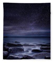 Shining In Darkness Fleece Blanket