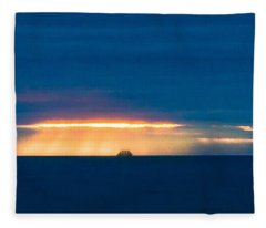Ship On The Horizon Fleece Blanket