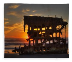 Shipwreck Sunburst Fleece Blanket