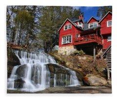 Shoal Creek Falls  Fleece Blanket