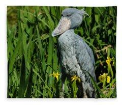 Shoebill Stork Fleece Blanket