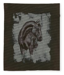 Show Horse Fleece Blanket