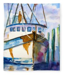 Shrimp Boat Isra Fleece Blanket