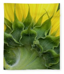 Shy Sunflower Fleece Blanket
