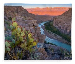 Sierra Del Carmen And The Rio Grande Fleece Blanket