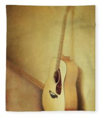 Silent Guitar Fleece Blanket