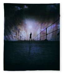 Silent Scream Fleece Blanket