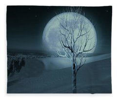 Silent Winter Evening  Fleece Blanket