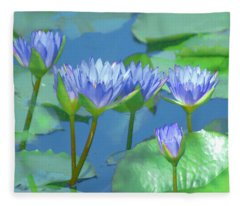 Silken Lilies Fleece Blanket