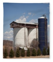 Silo House With A View - Color Fleece Blanket