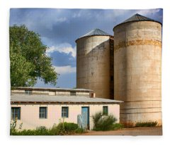 Silos And Shed Fleece Blanket
