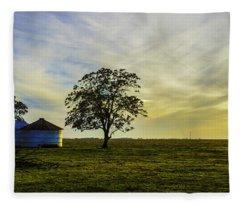Silos At Sunset Fleece Blanket
