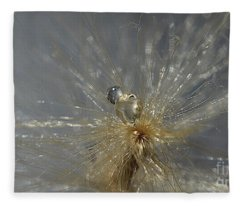Silver Drops Fleece Blanket