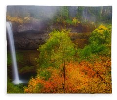 Silver Falls Pano Fleece Blanket