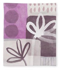 Simple Flowers- Contemporary Painting Fleece Blanket