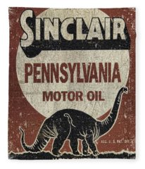 Sinclair Motor Oil Can Fleece Blanket