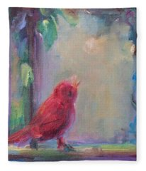 Sing Little Bird Fleece Blanket