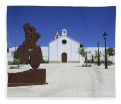 Sitges Spain Fleece Blanket