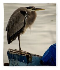Sittin' On The Dock Of The Bay Fleece Blanket