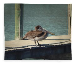 Sitting On The Dock Of The Bay Fleece Blanket