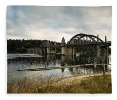 Siuslaw River Bridge Fleece Blanket