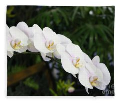 Orchid Evelyn Reese Fleece Blanket