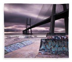 Skate Park Fleece Blanket