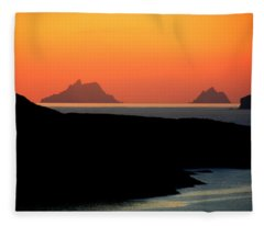 Skellig Islands  Fleece Blanket