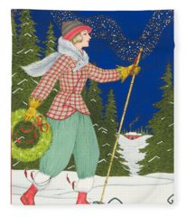 Ski Vogue Fleece Blanket