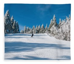 Skiers Paradise Fleece Blanket