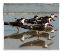 Skimmers With Reflection Fleece Blanket