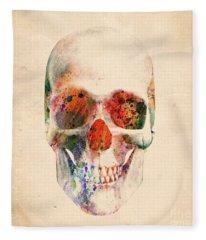 Skull 12 Fleece Blanket