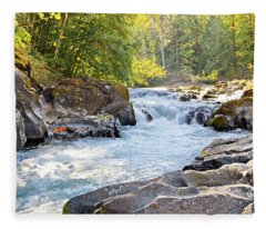 Skutz Falls At Cowichan River Provincial Park Fleece Blanket