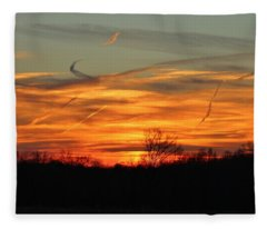 Sky At Sunset Fleece Blanket