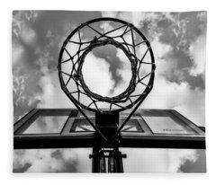 Sky Hoop Basketball Time Fleece Blanket