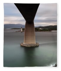 Skye Bridge At Sunset Fleece Blanket