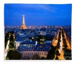 Skyline Of Paris Fleece Blanket