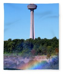 Skylon Tower Niagara Falls Fleece Blanket