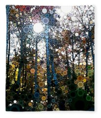 Skyway Forest At Dawn Fleece Blanket