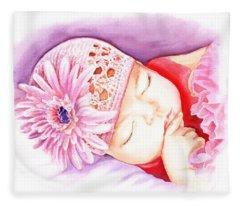 Sleeping Baby Fleece Blanket