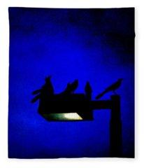 Sleepless At Midnight Fleece Blanket