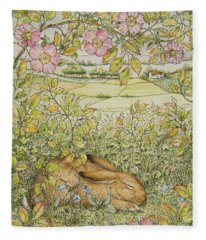 Sleepy Bunny Fleece Blanket